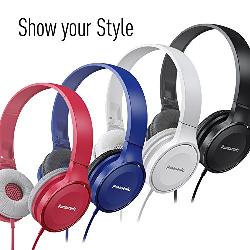 Panasonic On Ear Stereo Headphones RP-HF100M-A with Integrated Mic and Controller, Travel-Fold Design, Matte End, Blue Image 7