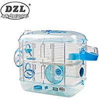 DZL Jaula para Hamster de plástico Duro, caseta Bebedero comedero Rueda Todo Incluido (1