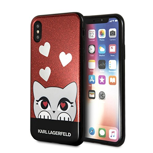 Image of Karl Lagerfeld KLHCPXVDCRE CG Mobile Handyhülle für Apple iPhone X Rot