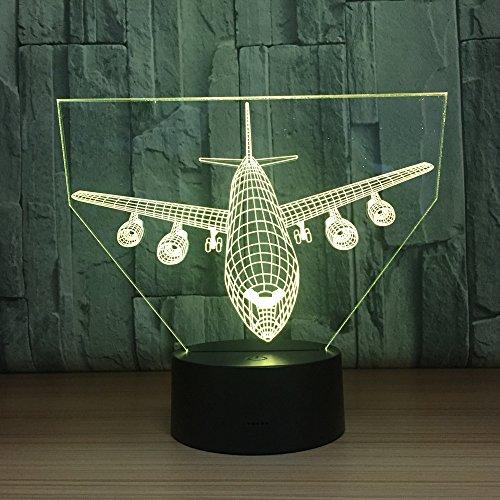 Fernbedienung Boeing Air Plane 7 Farblampe 3D Visuelle Led Nachtlichter Für Kinder Touch Usb Tabelle -