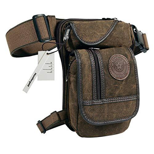 Huntforgold Herren Canvas Beintasche Hüfttasche Pack Leg Drop Utility Bag zum Sport Reisen Camping Radfahren Motorrad - Utility-jeans-arbeit Jean
