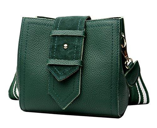 SAIERLONG Nuovo Donna Verde Vera Pelle Borse Crossbody Sacchetti di spalla Verde