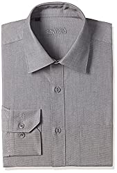 Raymond Mens Formal Shirt (8907254936678_RMSX05913-K4_40_Black)