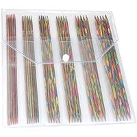 KnitPro Symfonie - Juego de agujas de punto con punta doble (20 cm, 6 tamaños: 2,5, 3, 3,5, 4, 4,5 y 5 mm), multicolor