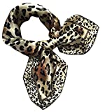 Écharpe de tête carrée de Femmes, écharpe imprimée Attrayante de Cou de Foulard de Mouchoir de Mode de Malloom