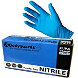 (2 scatole)  100 media guardia del corpo Nitrile usa e getta guanti senza polvere