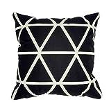 Hangood Housse de coussin Linge de coton Accueil Décoratifs Motif géométrique 45cm x 45cm