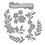 Unbekannt Spellbinders Shapeabilities Dies-Floral Berry Prägevorlage mit Blumen-/Blumenranken-Muster