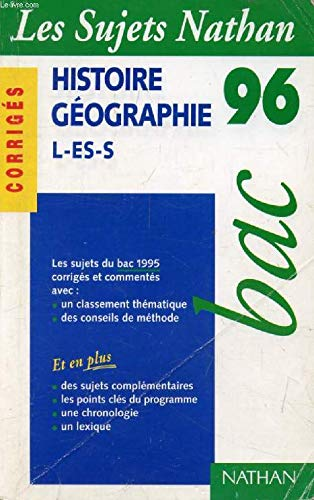 Bac 95-96 hist.geographie cor