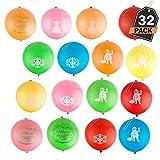 Kompanion 32 Stück Weihnachten Punch-Luftballons Set, Weihnachtliche Spielzeuge, Strumpffüller, Partygeschenke und Wundertüte-Füller