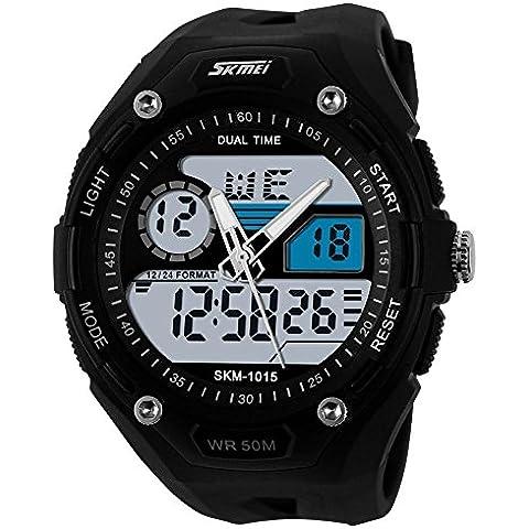 GL Orologi del Multi-funzione orologio digitale a LED orologio resistente