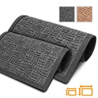 GadHome Prime Outside Dirt Trapper Door Mat, Black 45cm x 75cm | Heavy Duty, Washable Foot Mats for Home, Office | Easy to Clean, Anti-Slip Rubber Barrier, Unique Texture