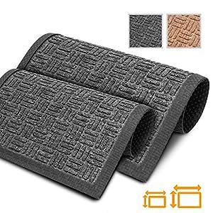 GadHome Überlegene Schmutzfangmatte, Schwarz 40x60cm   Schwere, waschbare Innen-Fußmatten für Zuhause und das Büro   Leicht zu reinigen, rutschfeste Gummischicht, einzigartige Textur