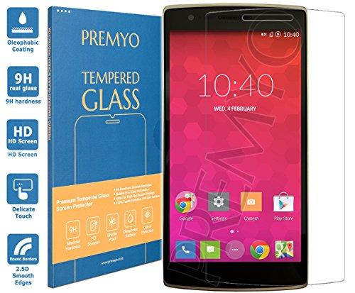 PREMYO Vetro Temperato per OnePlus One Pellicola Protettiva per OnePlus One Protezione Schermo Compatibile con OnePlus One Durezza 9H Bordi 2,5D Anti-Graffi Bolle Impronte