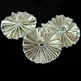 Embroiderymaterial Gota Patti Flowers Appliques Patches for Embroidery Decoration and Craft Making(Silver 100 Pieces)