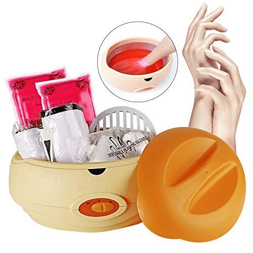 YAOBLUESEA Calentador de parafina conjunto de parafina para La cera de parafina mano y pies con accesorios 900 g naranja