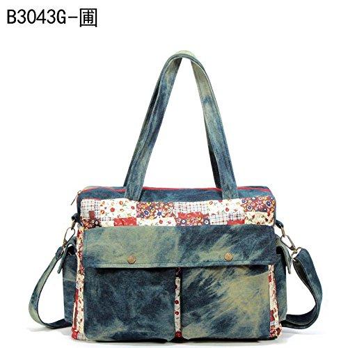 MSZYZ Weihnachtsgeschenke Single Schultertasche Handtasche Satchel Tote Canvas Tasche Tasche Xiekua Paket Grün Tragetasche