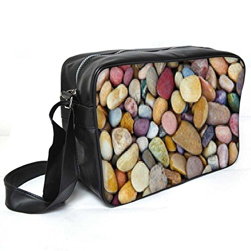 Snoogg Colorful Pebble Leder Unisex Messenger Bag für College Schule täglichen Gebrauch Tasche Material PU (Leder-umhängetasche Pebble)