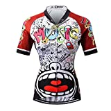 Thriller Rider Sports® Donna Love Music Sport e Tempo Libero Abbigliamento Ciclismo Magliette Manica Corta
