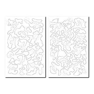 2 Designs Selbstklebende Aufkleber Camouflage Airbrush Spray Paint Duracoat Cerakote Gun Gewehr-Tarnschablonen – kleine Multicam