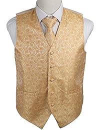 EGD1B.01 Patr¨®n Serie microfibra smoking del vestido del chaleco del cuello Corbata Set Mens Por Epoint