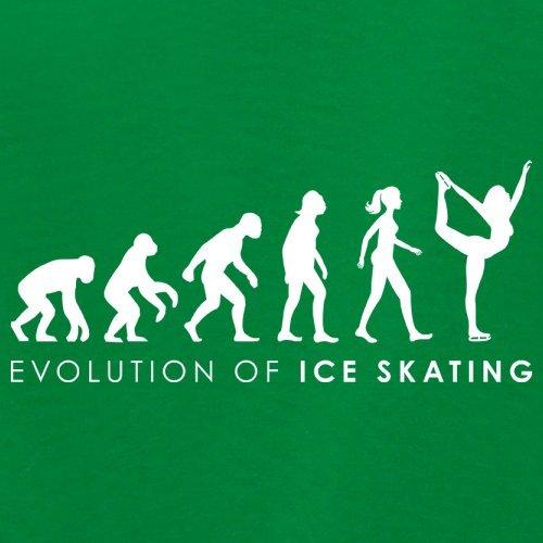 Evolution of Woman - Eislaufen - Damen T-Shirt - 14 Farben Grün
