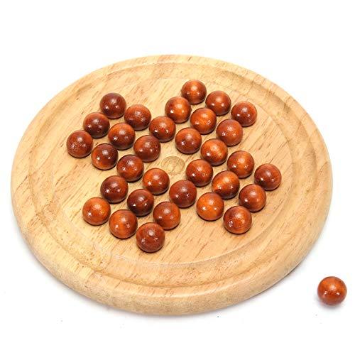 ChaRLes Holz Traditionelle Brettspiel Solitär Marmor Kind Pädagogische Spaß Spielzeug
