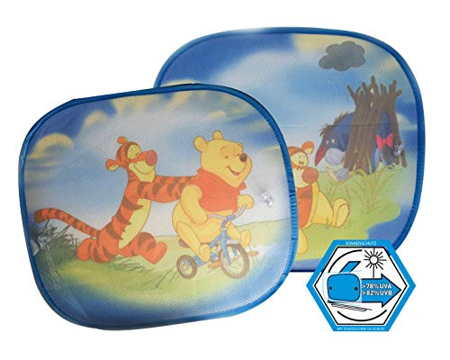 Winnie Pooh WPSAA080 Hits4Kids \'Winnie The Pooh Uv-Sonnenschutz für Seitenscheiben Hellblau