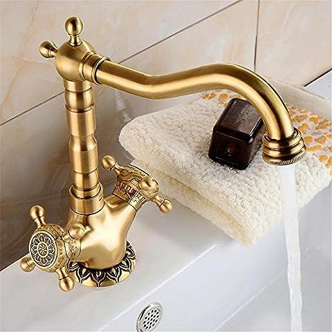 Modylee Conca d'oro in ottone bagno rubinetto lavabo nave lavello rubinetti Miscelatore rubinetto girevole calda acqua fredda all'ingrosso CA -