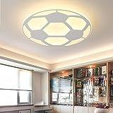 LoveScc Ledthe créatif Chambre Enfants moderne et un mobilier minimaliste Lustre lampe enfants circulaire ultra plate lampe chaleureuse personnalité Football lampes et appareils d'éclairage Lumière Blanche 32W42*5cm de diamètre