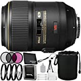 Nikon AF-S VR Micro 105mm f/2.8G IF-ED Lens - 8PC Accessory Bundle Includes 3 Piece Filter Kit + 4 Piece Macro Filter Set + Deluxe Starter Kit + Lens Cap Keeper + Memory Card Wallet + MORE