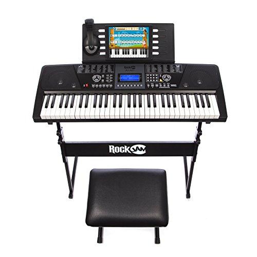 5. RockJam RJ561 61-Keys Electronic Keyboard SuperKit