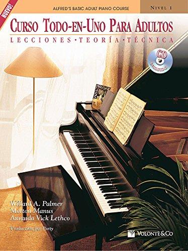 Curso Todo-En-Uno Para Adultos, Nivel 1: Lecciones * Teoria * Tecnica, Book & CD (Alfred's Basic Adult Piano Course) por Alfred Publishing