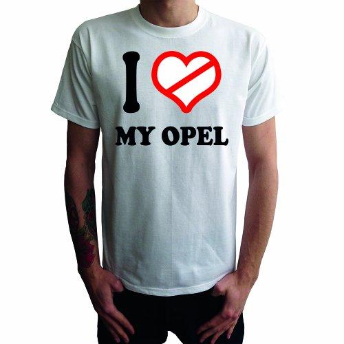 I don't love my Opel Herren T-Shirt Weiß