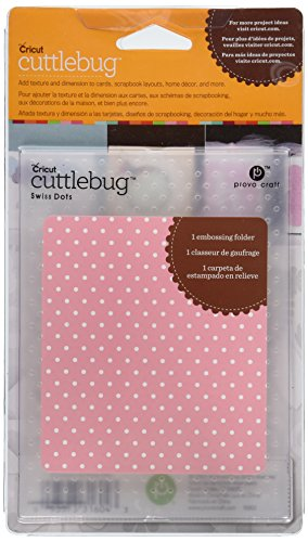 Swiss Dots Cuttlebug A2 Embossing Folder 37-1604 (Dots Embossing A2 Folder)