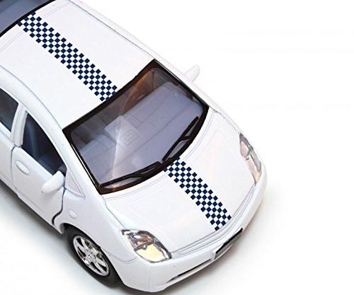 28x200cm Viperstreifen Quadrate Squares Motorhaube Rallye Sport Streifen Rennstreifen Auto Aufkleber Viper 2N384_6, Farbe:Schwarz Matt (Streifen Motorhaube)