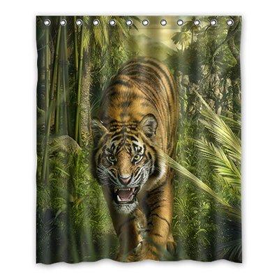 Dalliy tigre costume tenda della doccia shower curtain 152cm x 183cm