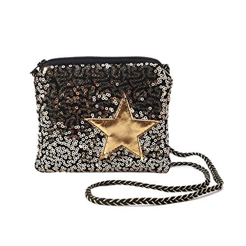 Pailletten-hobo Handtasche (Bogji - Kinder Mädchen Pailletten Umhängetasche Handtasche Messenger Hobo Crossbody Geldbörse Brieftasche)