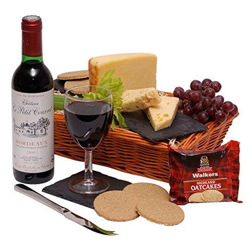 The Wine & Cheese Hamper - Food Hampers and Gift Baskets with Cheese - Red Wine Gift Hampers