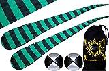 Flames N Games FUNKY® Pro Socken-Poi (JAIL-BOY) Sock Poi Set inkl. 2x Beanbags Bälle & Reisetasche. Swinging Poi und Spinning Pois! Pois für Anfänger und Profis.