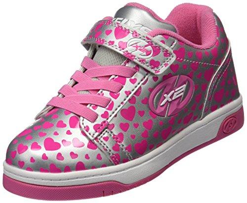 Heelys X2, Zapatillas Unisex niños, (Silver Hearts), 33 EU