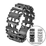 MEANS Bracelet de bande de roulement portable en acier inoxydable 29 IN 1 multi-outil, pour l'urgence extérieure