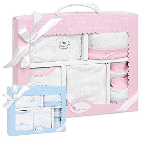 Erstlings-Ausstattung Mädchen Baby Set Baumwolle Erstausstattung Kleidung rosa pink girl Größe 50/56 0-3 Monate ❤❤❤ Babykleidung Geschenk Geburt Neugeborenen Strampler Mütze Lätzchen Box Paket Shower (Insgesamt Mädchen-kleidung)