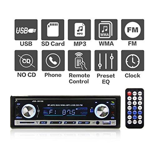 Für Apple-radio Auto (Autoradio MP3 mit Bluetooth von POMILE, Single Din Auto Radio USB Empfänger MP3-Player Apple iPod / iPhone Control, Freisprechfunktion und integriertes Mikrofon) schwarz)