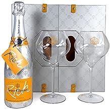 Veuve Clicquot RICH Champagne Gift Box con dos copas - Un regalo de lujo para la esposa, la novia, el compromiso, el cumpleaños, la boda, ...