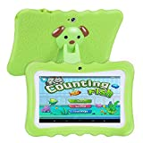 SODIAL(R) Upgrade Best Tablet for Kids, 7inch HD Display with Kid-proof Silicone Case (Quad Core, 8GB, Wifi & bluetooth, Front & Rear Camera, Playstore, Youtube, Google Android 4.4, IWAWA) (Green)