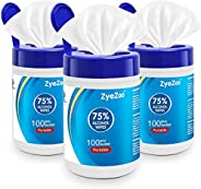 ZyeZoo 75% Alcohol Wipes,Disinfecting Wipes/Disposable Cleaning Wet/Bleach Free Cleaning Wipes,Portable Hand W