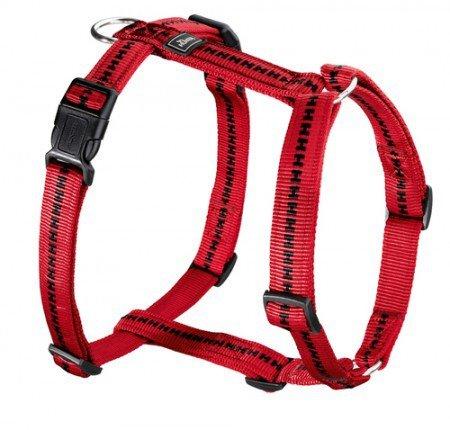 Hunter Hundegeschirr Power Grip Vario Rapid, L, rot, Nylon