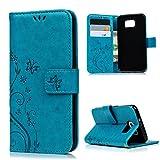 MAXFE.CO Lederhülle Leder Tasche Case Cover für Samsung