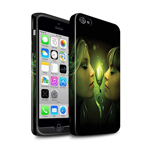 Officiel Elena Dudina Coque / Brillant Robuste Antichoc Etui pour Apple iPhone 4/4S / Luz Sombra Design / Art Amour Collection Relation amicale